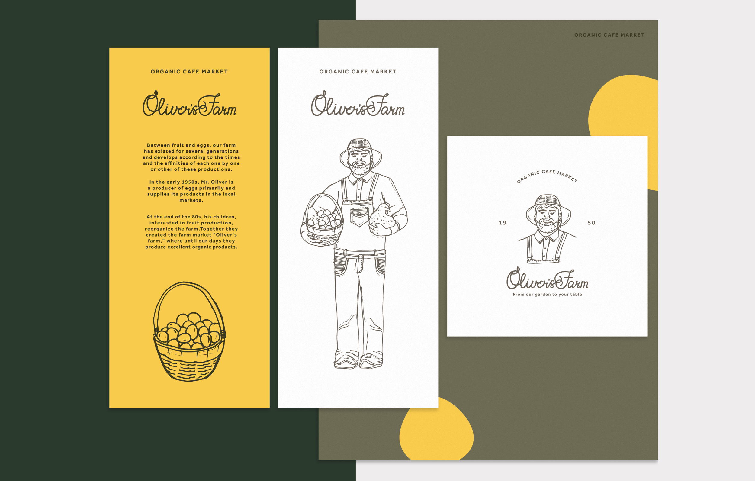 Logo design and illustrations for the organic and farm brand