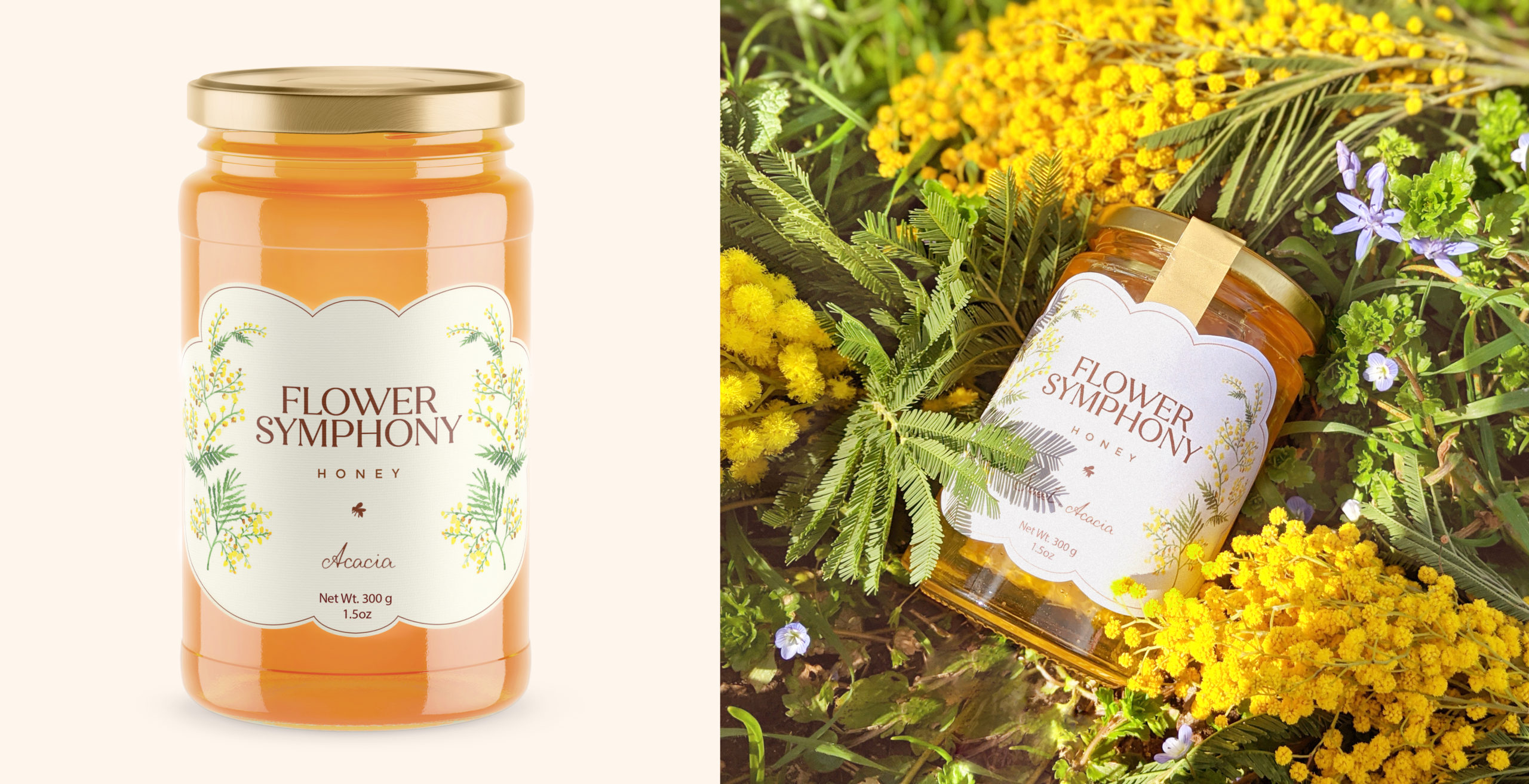 Honey packaging Flower Symphony
