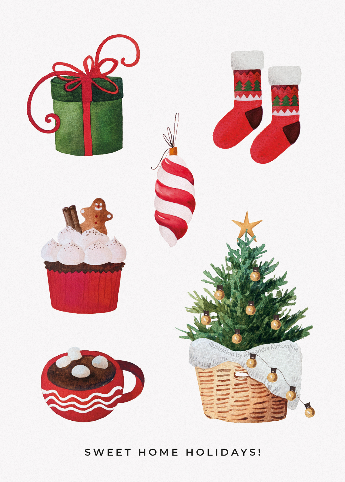 Alexandra-Motovilina_Christmas-Illustration_Sweet-Home-Holidays