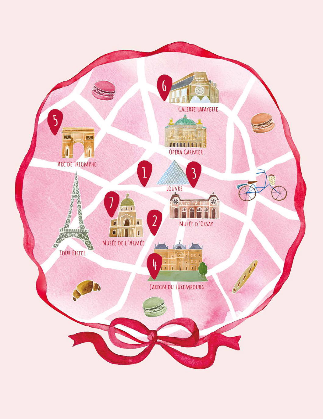 Alexandra-Motovilina_Paris-Pastry-Guide_Map-illustration
