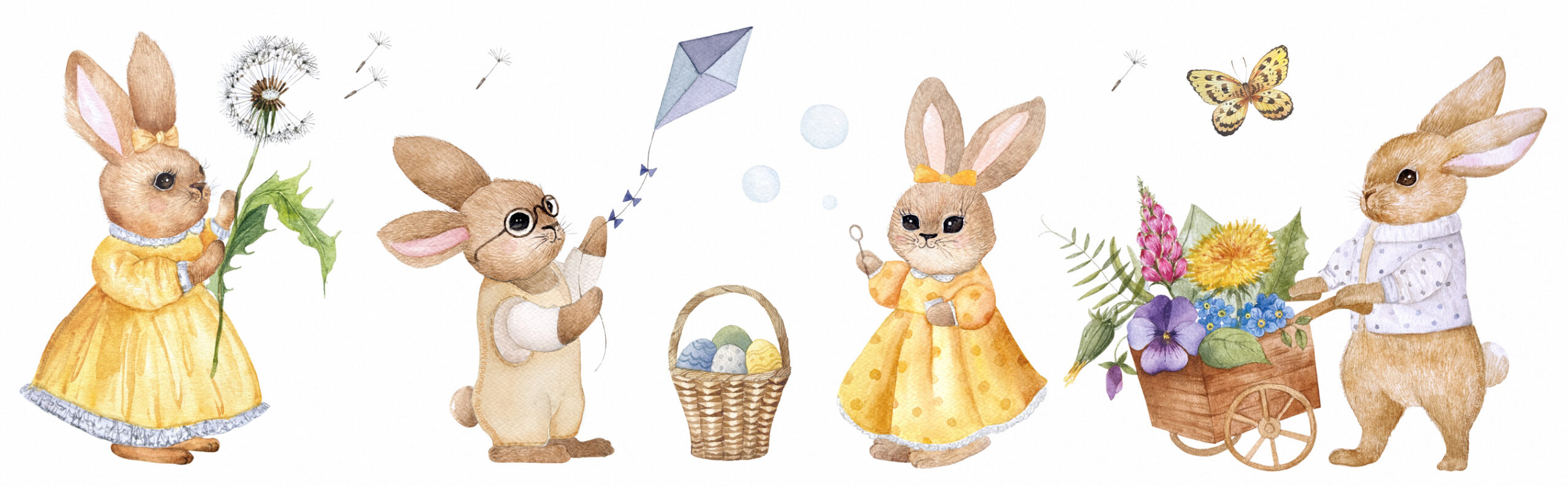 Alexandra-Motovilina_Easter-illustrations-with-rabbits