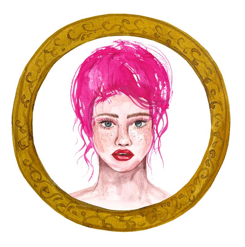 Pink-portrait